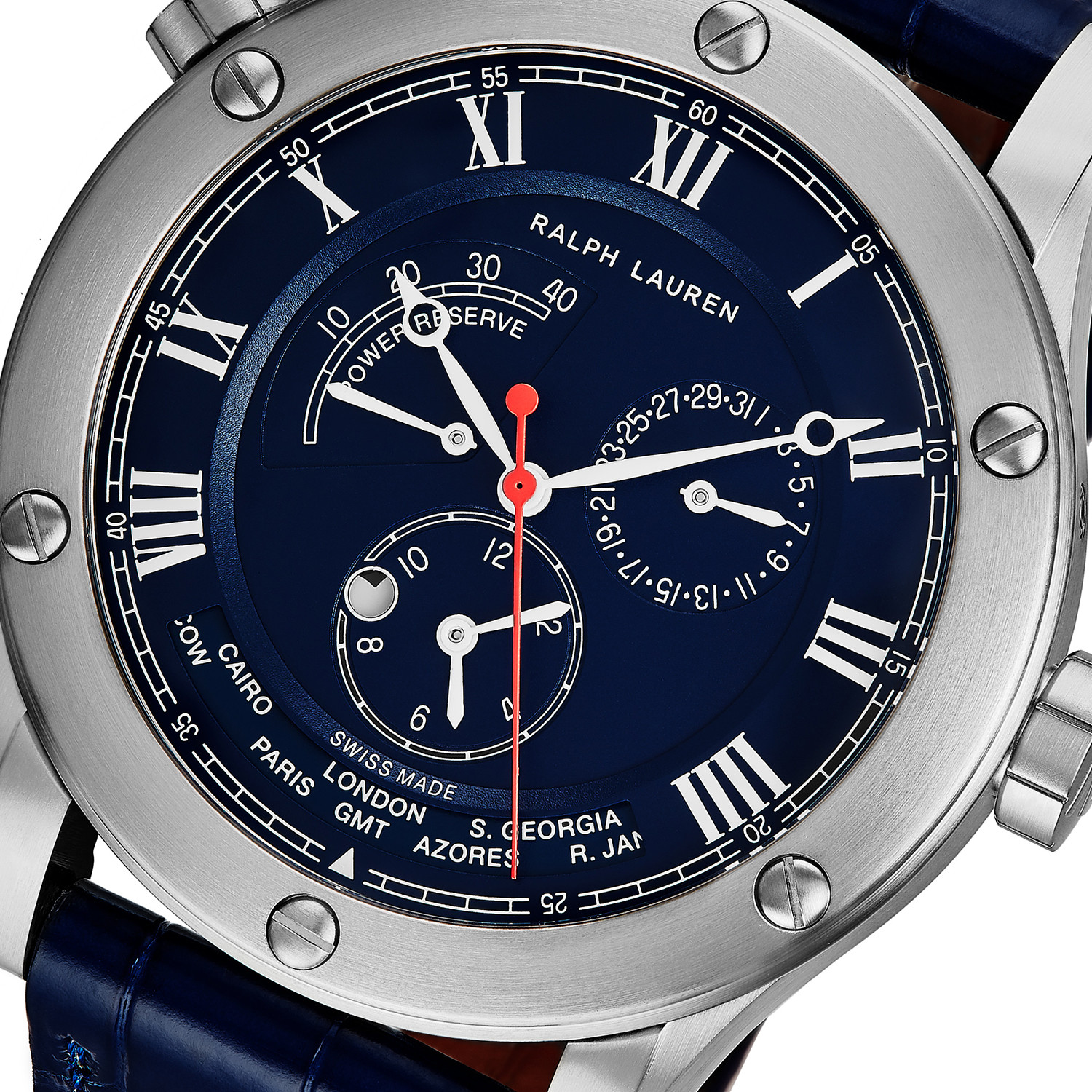 756089d4f4a Ralph Lauren Sporting World Time Automatic    RLR0210700    New ...
