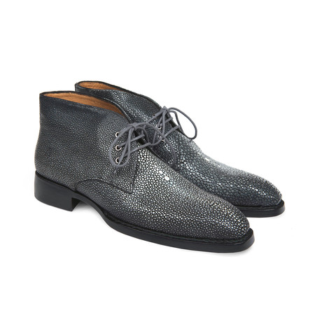 Genuine Stingray Goodyear Welted Chukka Boots // Gray (Euro: 38)