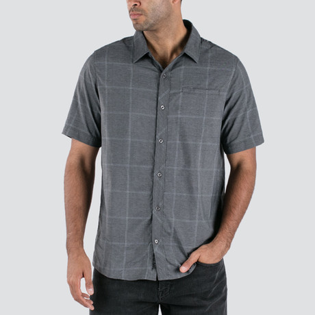 Uenishi Short-Sleeve Button-Up // Heather Dusk Blue (S)