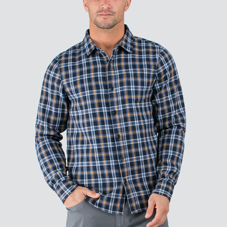 Long Button-Up // Navy (S)
