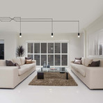 EXPRESSION Series // Adjustable LED Chandelier // Web