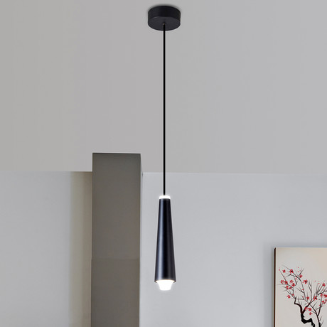 Expression // Black Single LED Pendant
