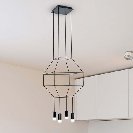EXPRESSION Series // Geometric LED Chandelier // 18″