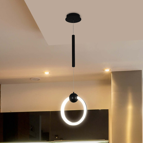 Capella // Round Abstract LED Pendant