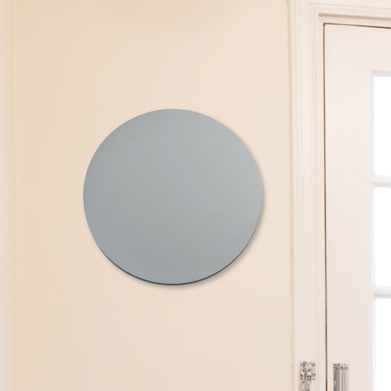 Eclipse Series Round Led Wall Sconce Silver