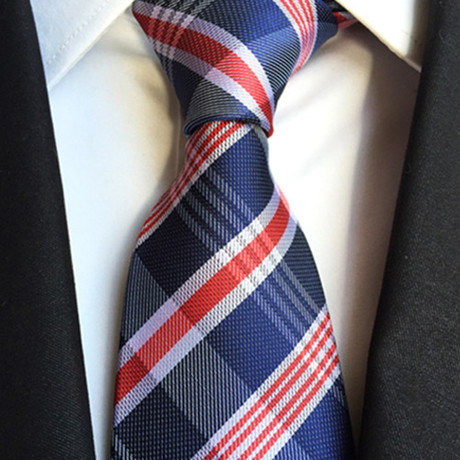 Pershing Tie // Navy + Red