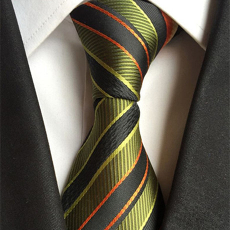 Manor Tie // Green + Orange