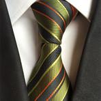 Manor Tie // Green + Orange