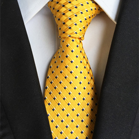 Ben Silk Tie // Yellow + Black