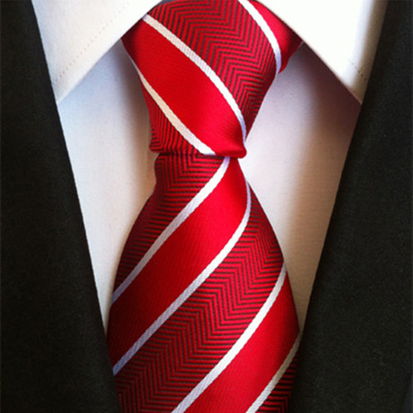 Monroe Tie // Red + White