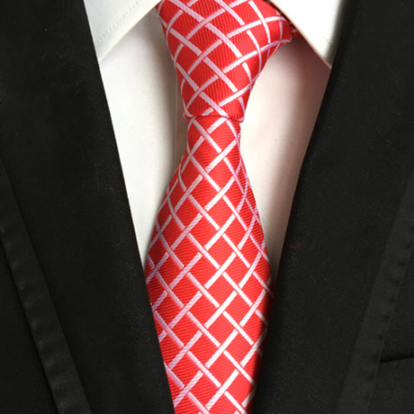 Bluestein Tie // Red + White