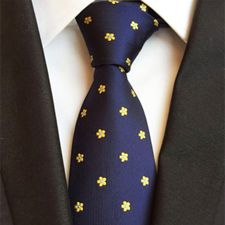 Lamar Tie // Royal Blue + Yellow