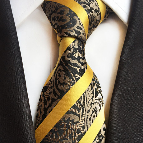 Altum Tie // Black + Yellow