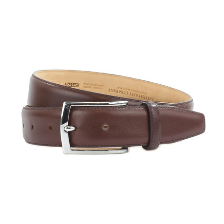 "Carter Formal Calf Leather Belt // Chianti (34"")"