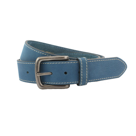 "Kendal Soft Italian Nubuck Belt // Denim (32"")"