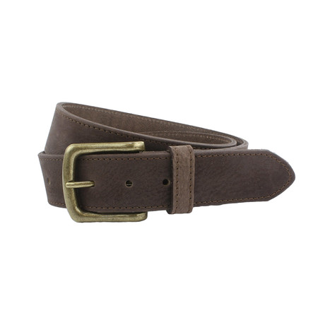 "Kendal Soft Italian Nubuck Belt // Brown (32"")"