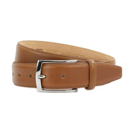 "Carter Formal Calf Leather Belt // Walnut (32"")"