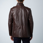 Best Lamb Leather Coat // Brown (Euro: 46)
