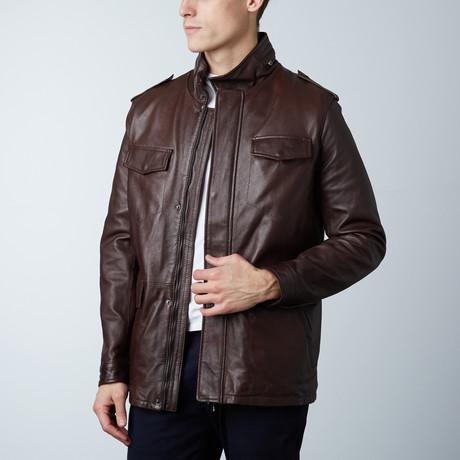 Best Lamb Leather Coat // Brown