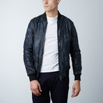 Gaudil Lamb Leather Jacket // Blue (Euro: 46)