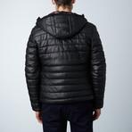 Teo Lamb Leather Down Jacket // Black (Euro: 46)