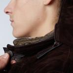 Vittorio Suede Leather Coat // Dark Brown (Euro: 46)