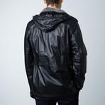 Vittorio Leather Coat // Black (Euro: 54)