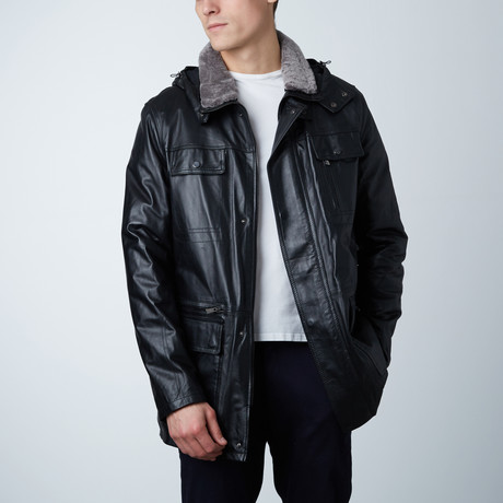 Vittorio Leather Coat // Black (Euro: 54)