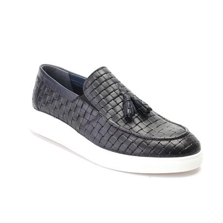 Woven Tassel Loafer Sneaker // Black (Euro: 40)
