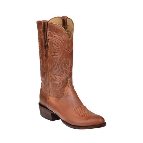 Goat Skin Round Toe Western Boot // Tan (US: 8)