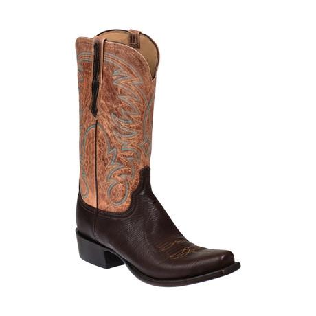 Jurassic Sheep Skin Western Boot // Brown // EE (Wide) (US: 8)