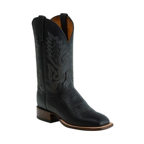 Brahman Horseman Style Western Boot // Black // EE (Wide)