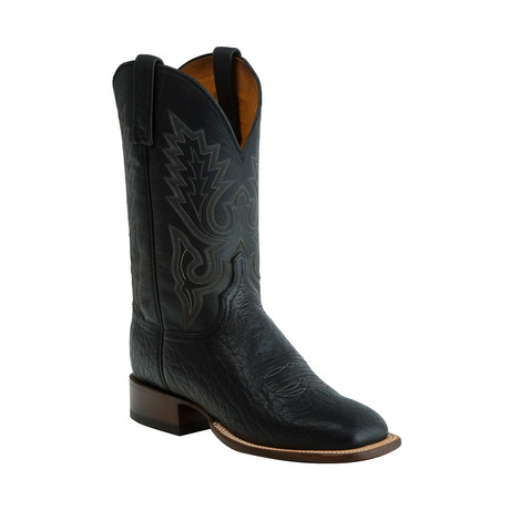 Brahman Horseman Style Western Boot // Black // EE (Wide) (US: 8)