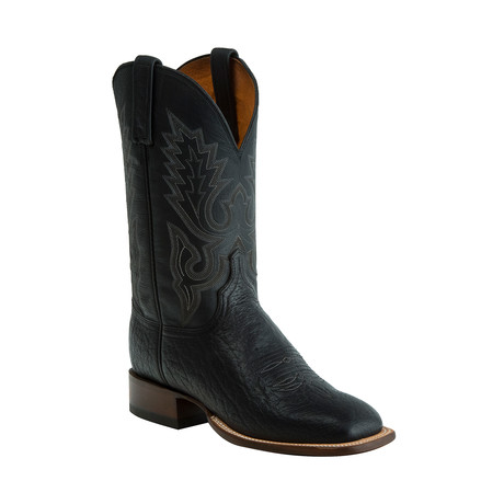 Brahman Horseman Style Western Boot // Black (US: 8.5)