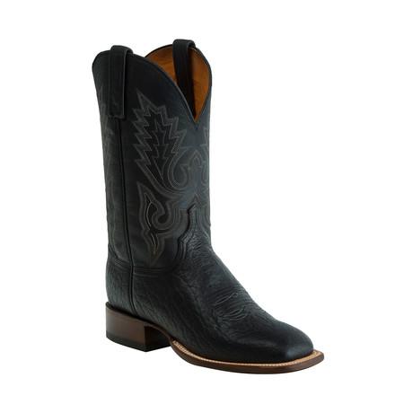 Brahman Horseman Style Western Boot // Black (US: 8)
