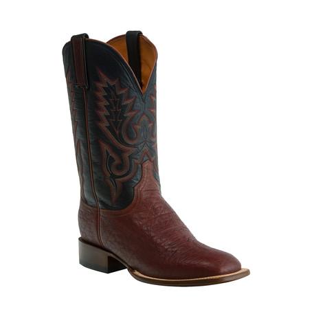 Brahman Horseman Style Western Boot // Cognac // EE (Wide) (US: 8)