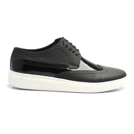Mixed Texture Wingtip Derby Sneaker // Black (Euro: 40)