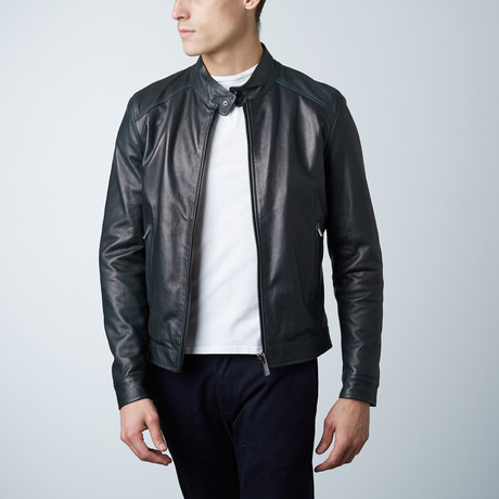 Ted Lamb Biker Jacket // Green (Euro: 44)