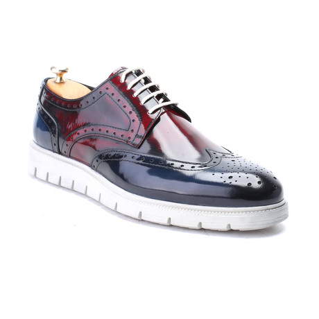 Willow Dress Shoes // Dark Blue + Bordeaux (Euro: 40)