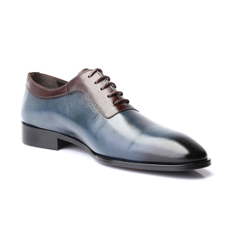 Winifred Dress Shoes // Dark Blue + Brown (Euro: 39)
