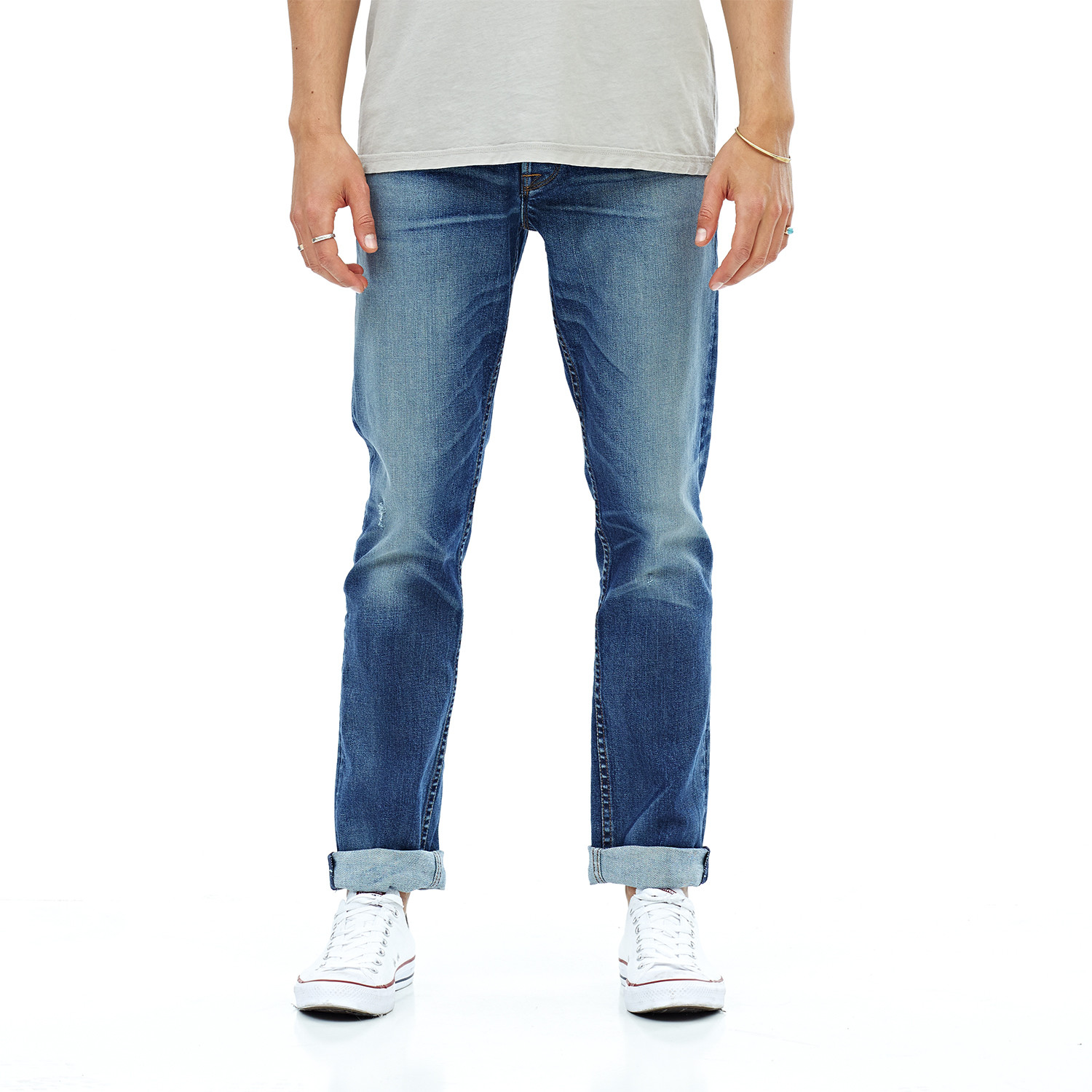 ffb18c4e Blake Slim Straight Double Cuff Jean // Withstand (28WX34L) - Hudson ...