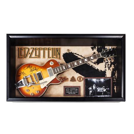 Autographed + Framed Guitar // Led Zeppelin
