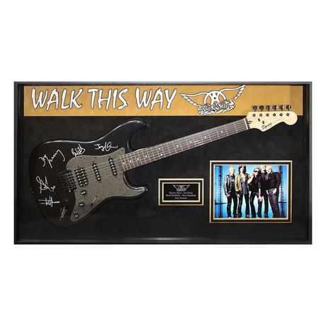 Framed + Signed Guitar // Aerosmith