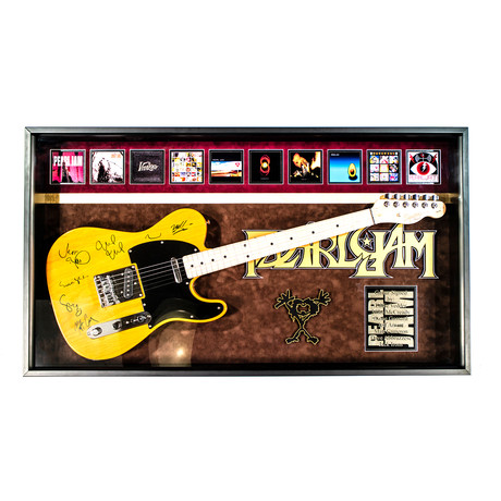 Framed + Signed Guitar // Pearl Jam
