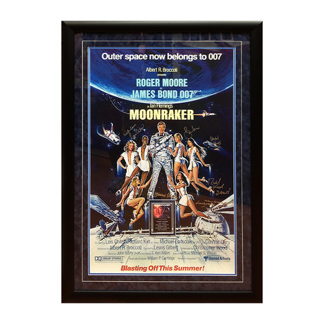 Moonraker // Cast Signed Poster