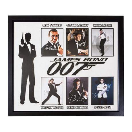Signed + Framed Collage // James Bond