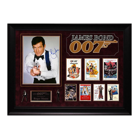 Signed + Framed Collage // Roger Moore