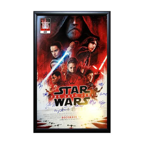 Signed Movie Poster // The Last Jedi // Poster I