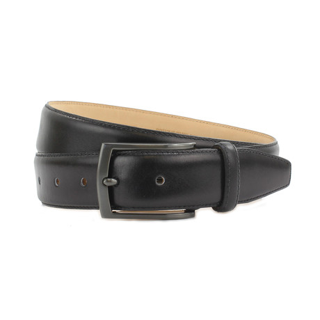 "Carter Formal Calf Leather Belt // Black (32"")"