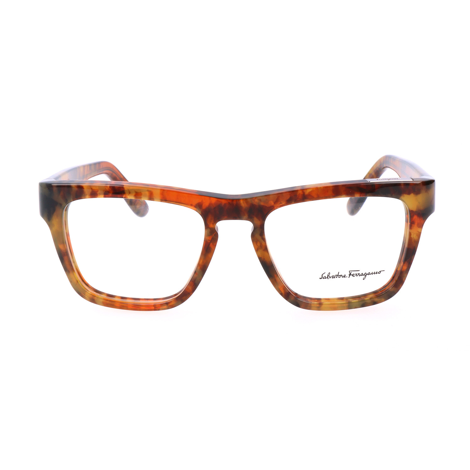 Flemington Frame // Brown Marble - Salvatore Ferragamo Optical ...